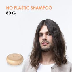 No Plastic Shampoo  - Shampoo solido per tutti i tipi di capelli 80gr